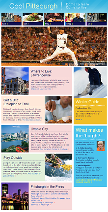 Take a look at what makes Pittsburgh great, through the eyes of Pitt grad students!