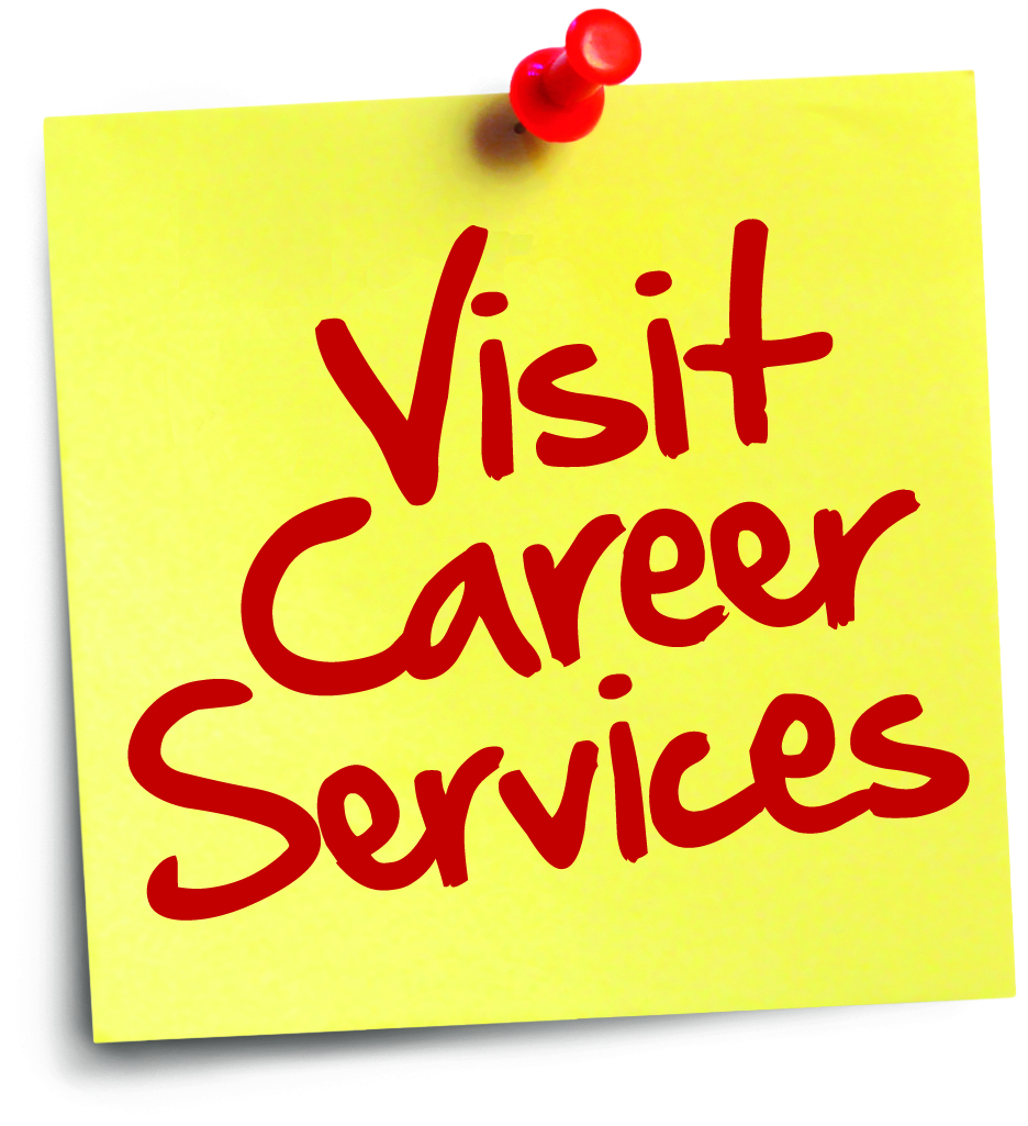 visit career services post it mark