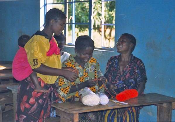 Knorr's Zambia knitting club