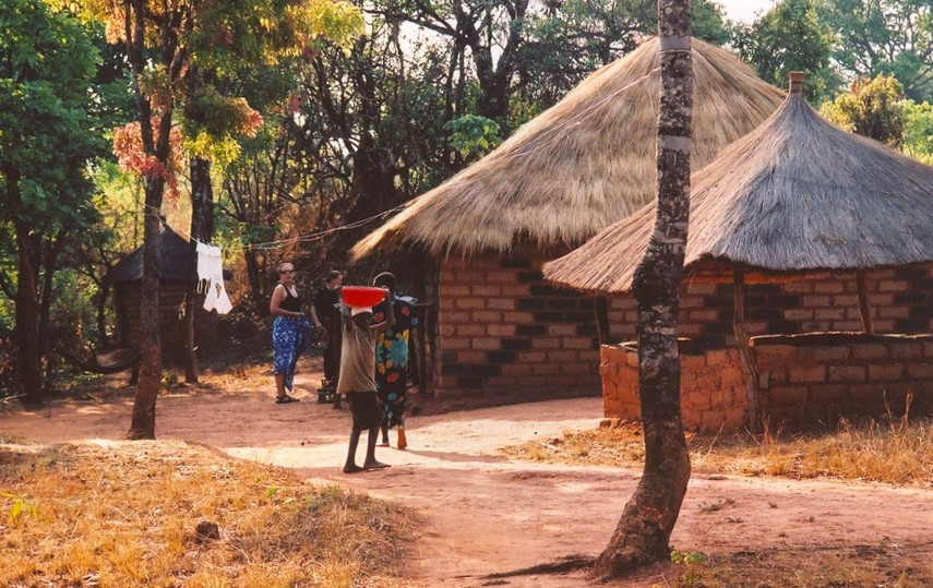 Melissa's house in Zambia