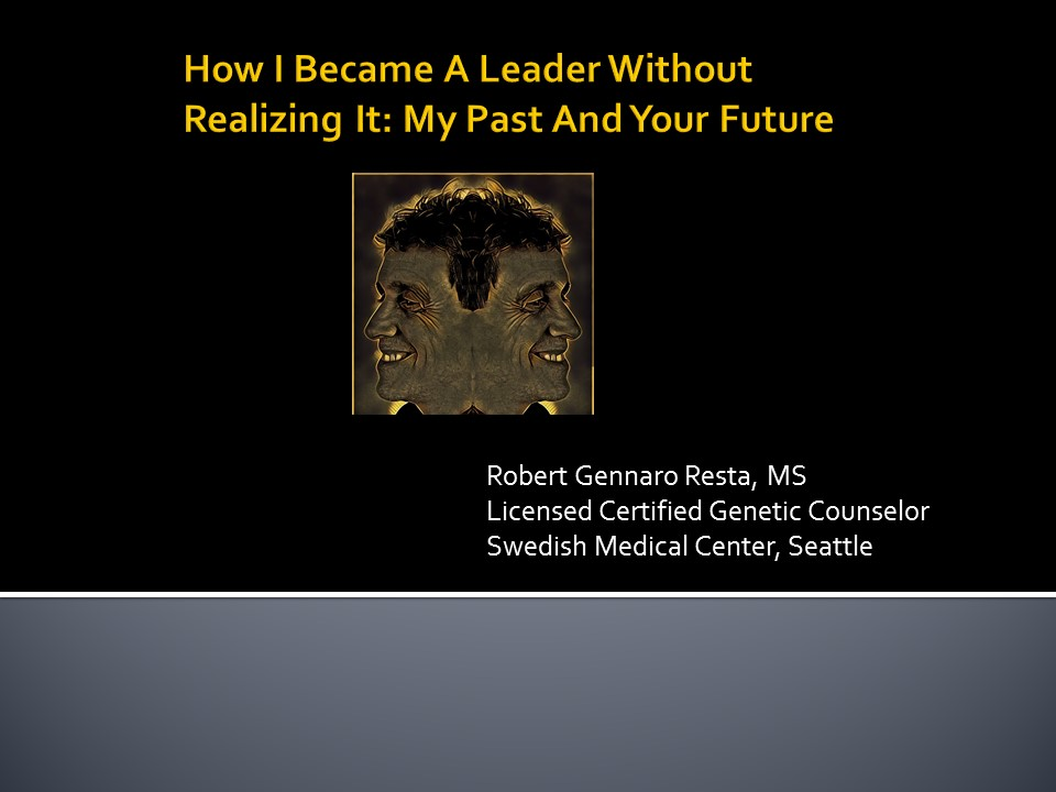 Link to Lecture by Robert Resta, MS