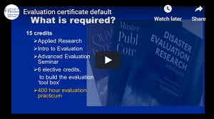 Evaluation Certificate (video)