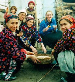 Making a traditional sweet with village women